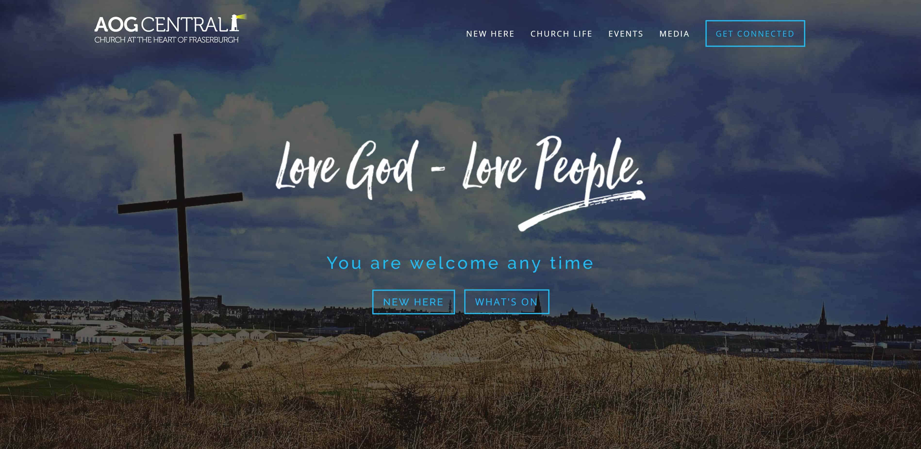 Church Website Homepage - AOG Central